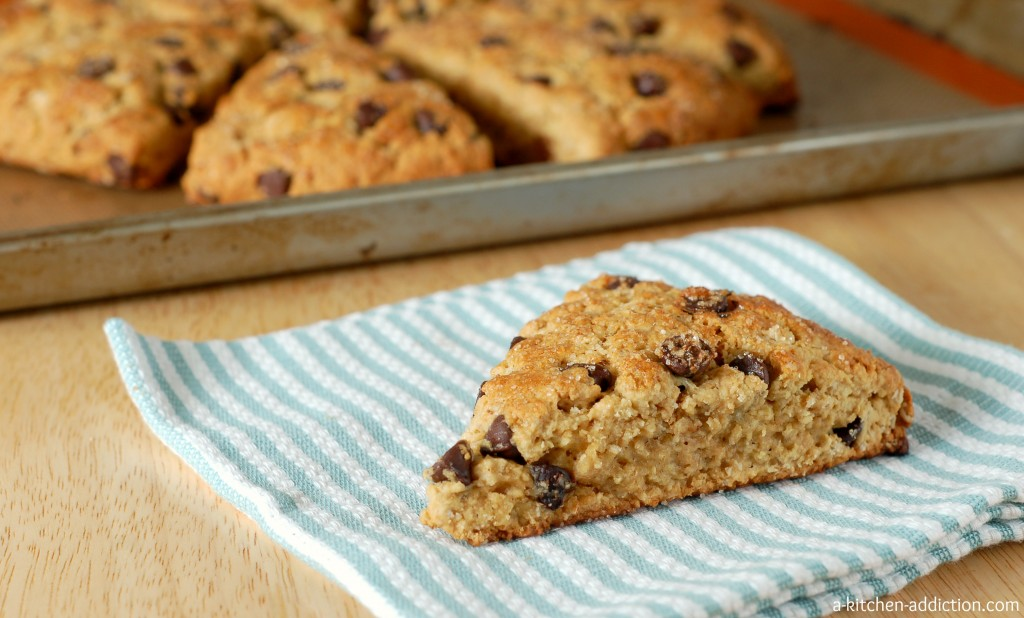 Peanut Butter Chocolate Chip Oatmeal Scones Recipe