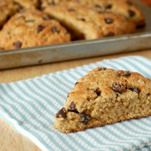 Peanut Butter Chocolate Chip Oatmeal Scones