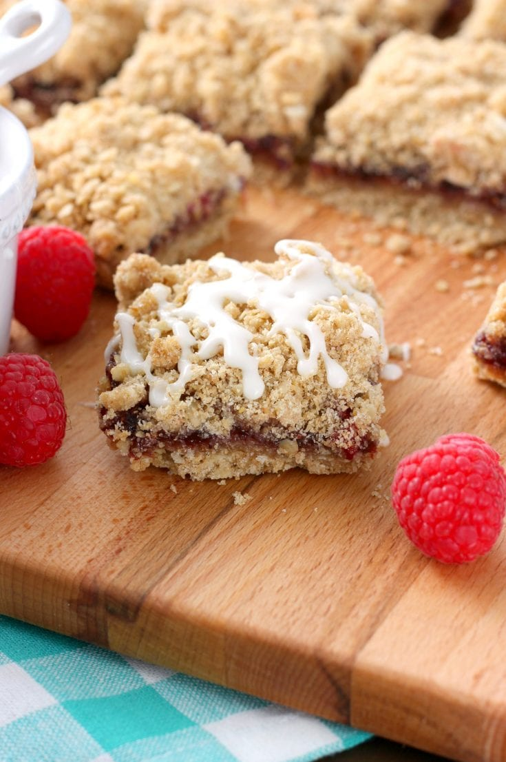 Raspberry White Chocolate Streusel Bars Whole Wheat A