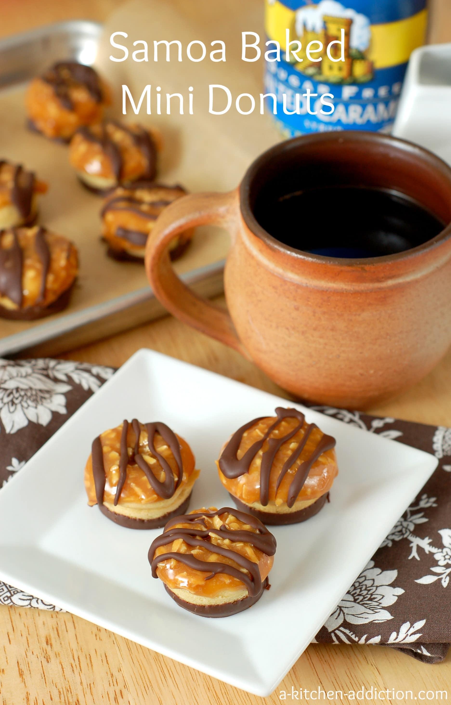 Samoa Baked Mini Donuts A Kitchen Addiction