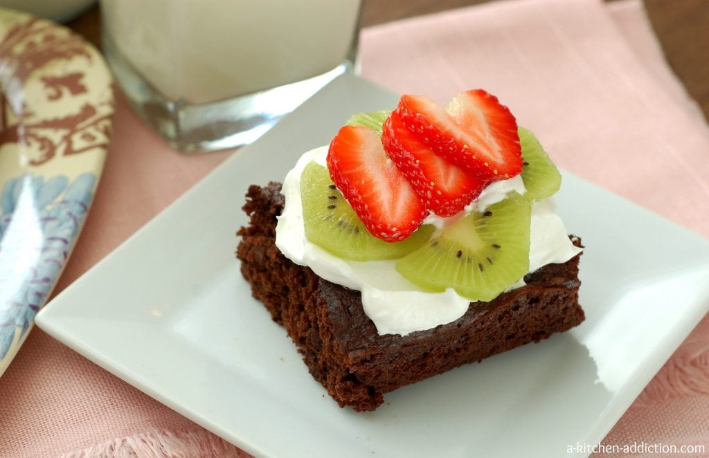 Skinny Fudgy Brownies #lowfat #easy