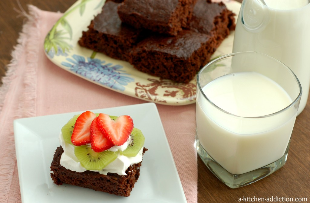 Skinny Fudgy Brownies #lowfat #recipe