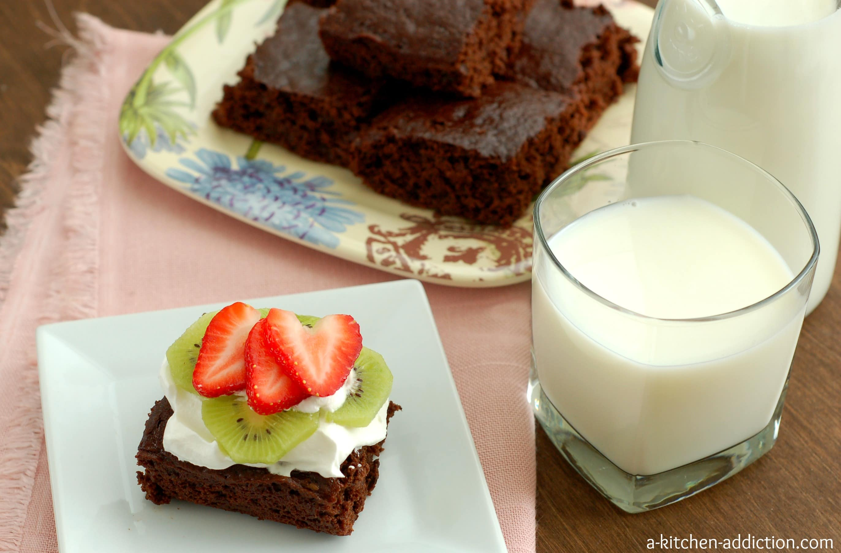 Skinny fudgy brownies quick easy a kitchen addiction for A kitchen addiction