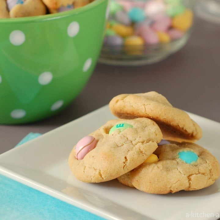 Brown Butter White Chocolate M&M Cookies Recipe l www.a-kitchen-addiction.com