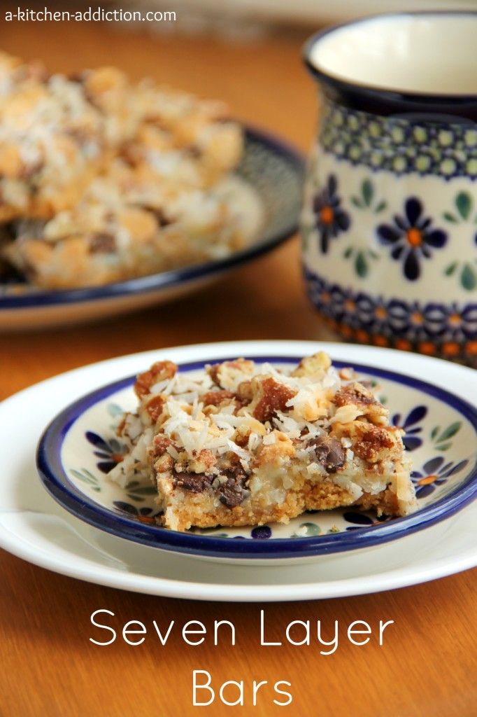 Seven Layer Bars Recipe l www.-akitchen-addiction.com