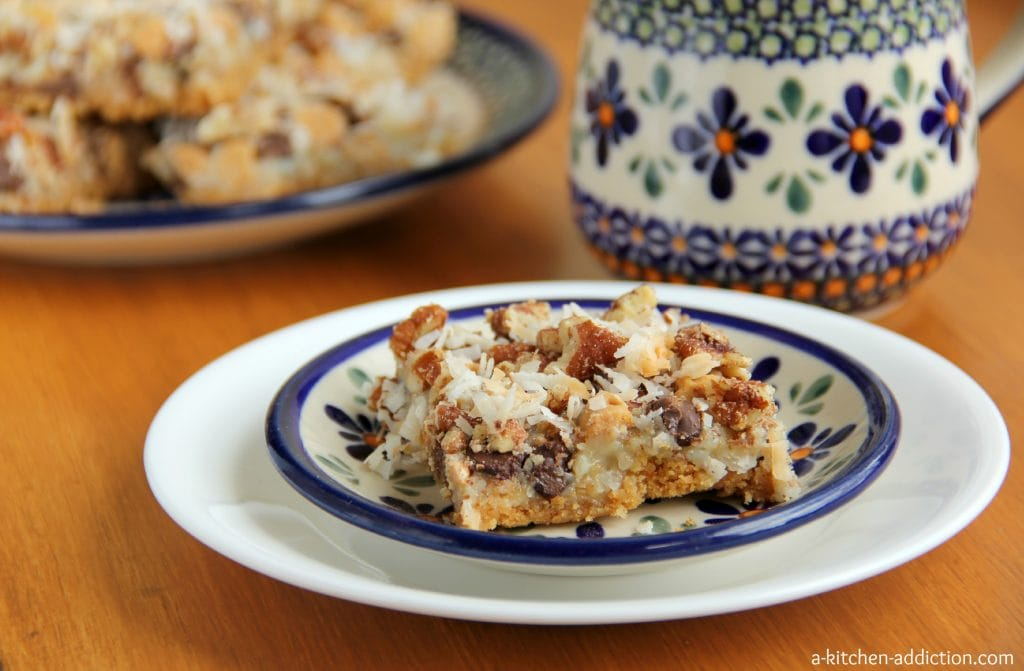 Seven Layer Bars Recipe l www.a-kitchen-addiction.com