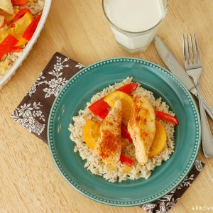Sweet and Spicy Chicken Over Rice