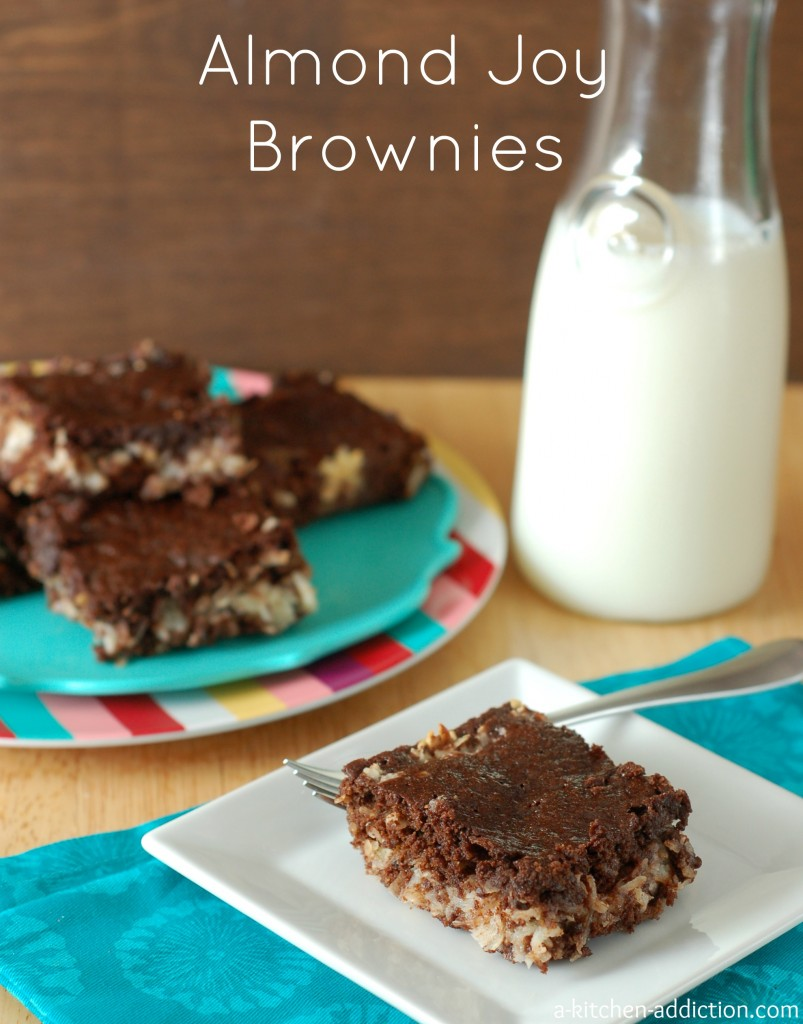 Almond Joy Brownies Recipe l www.a-kitchen-addiction.com
