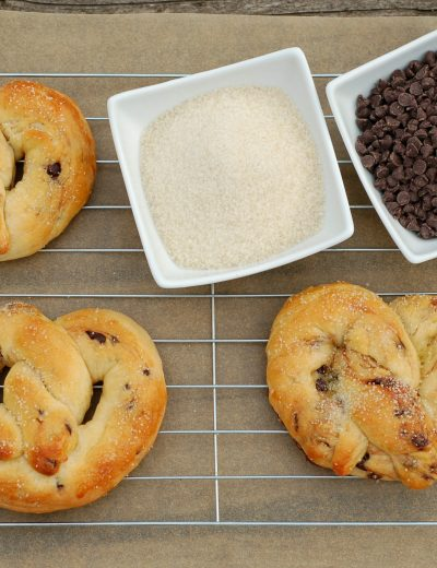 Chocolate Chip Brioche Pretzels