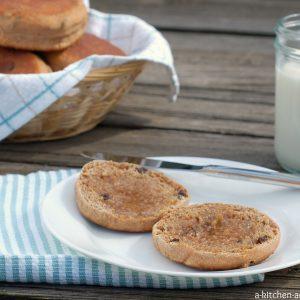 Cinnamon Raisin Honey Whole Wheat English Muffins