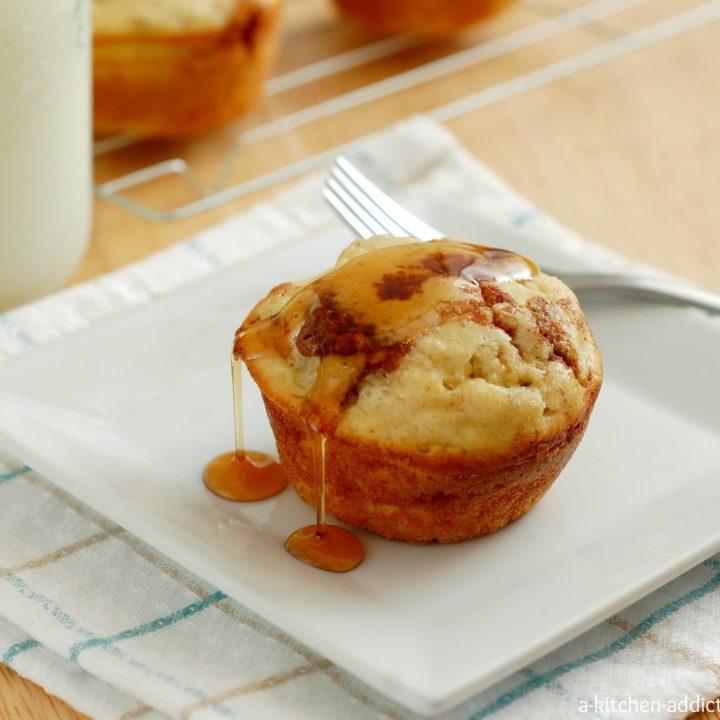 Cinnamon Sugar Pancake Muffins Recipe l www.a-kitchen-addiction.com