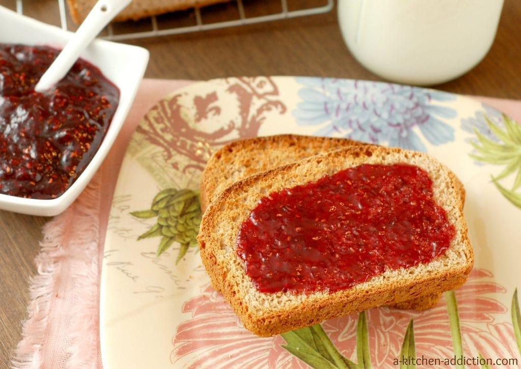 Whole Wheat English Muffin Bread Recipe l www.a-kitchen-addiction.com