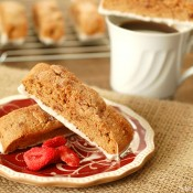 Strawberry Cinnamon Sugar Biscotti Recipe l www.a-kitchen-addiction.com