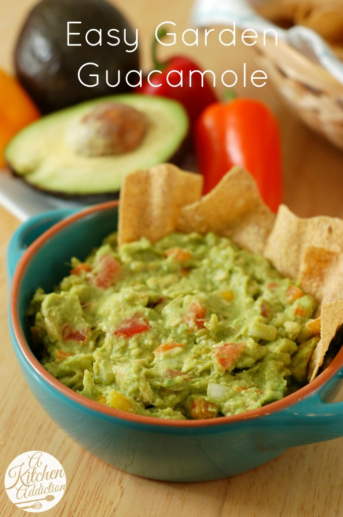 Easy Garden Guacamole Recipe l www.a-kitchen-addiction.com