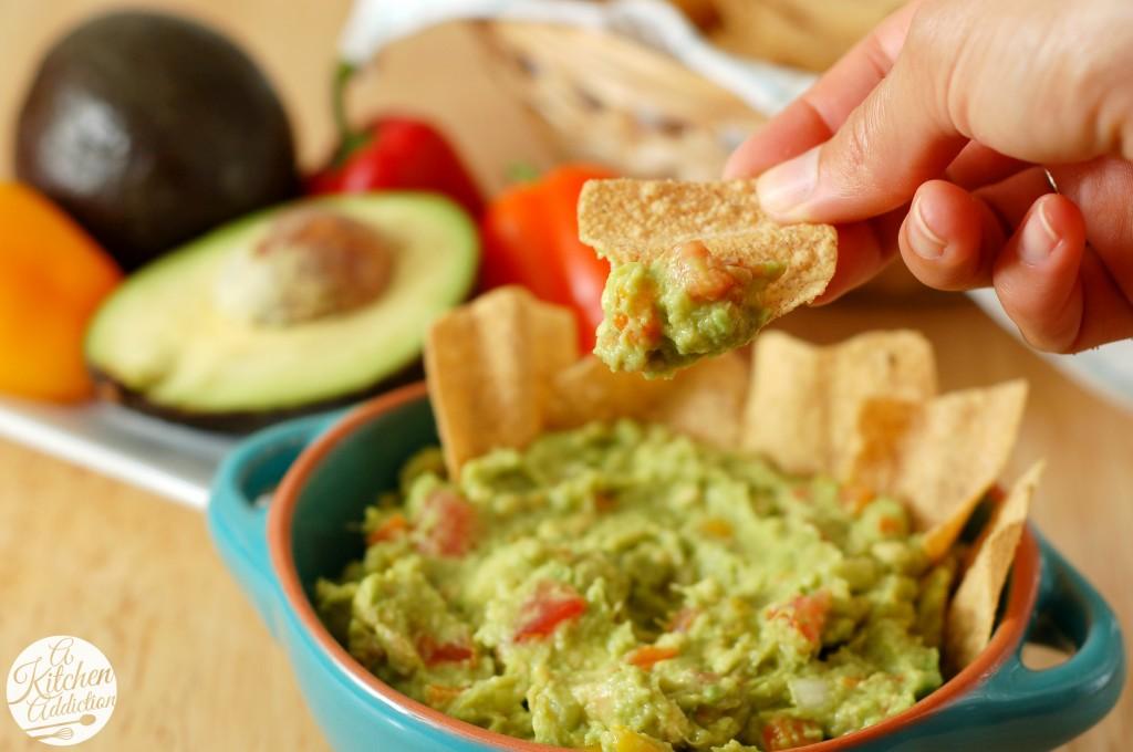 Easy Garden Guacamole Recipe l www.a-kitchen-addiction.com