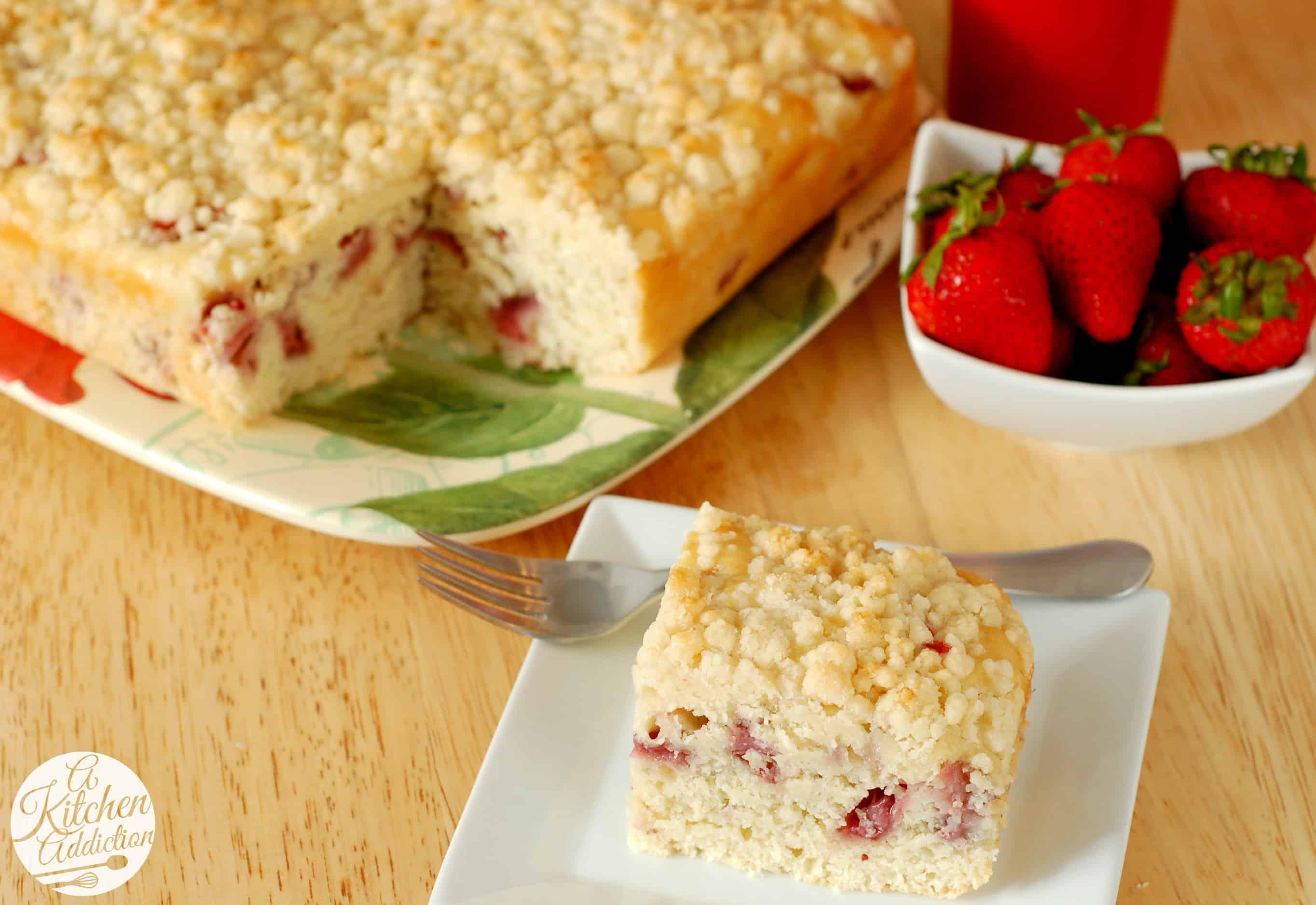 Fresh Strawberry Lemon Yogurt Cake Recipe l www.a-kitchen-addiction ...