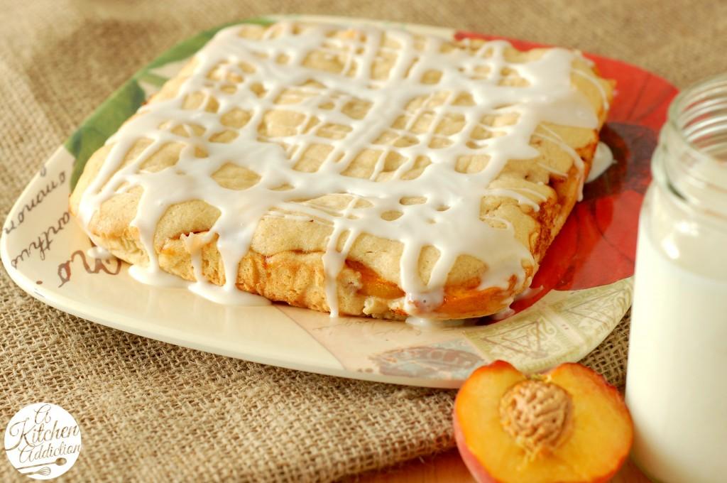 Peaches and Cream Cake Recipe l www.a-kitchen-addiction.com