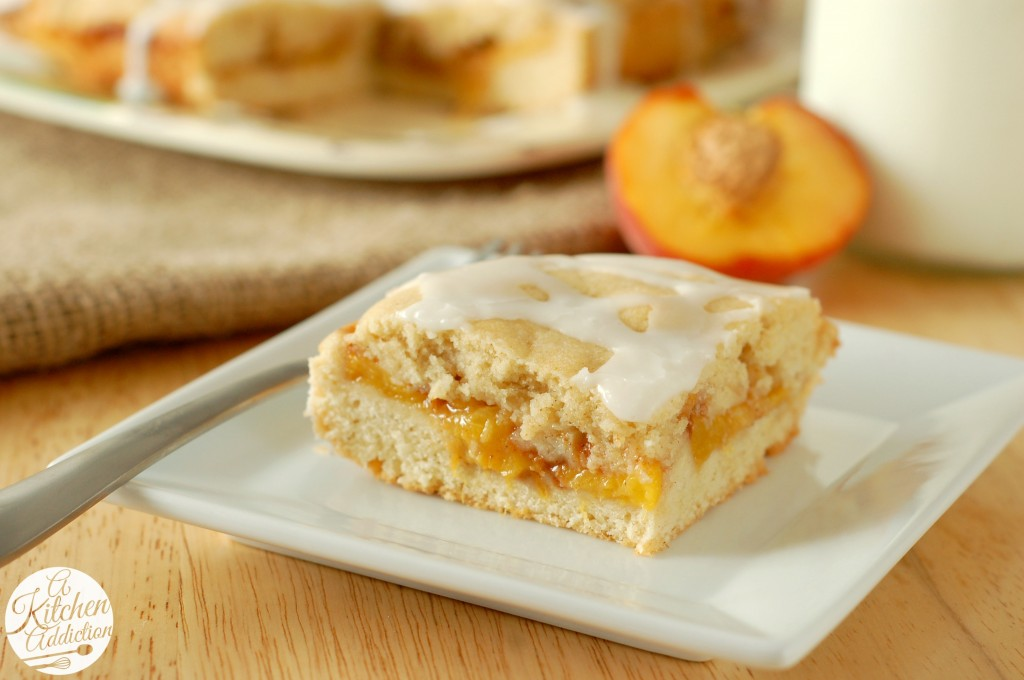 Peaches and Cream Cake Recipe l www.a-kitchen-addiction.com