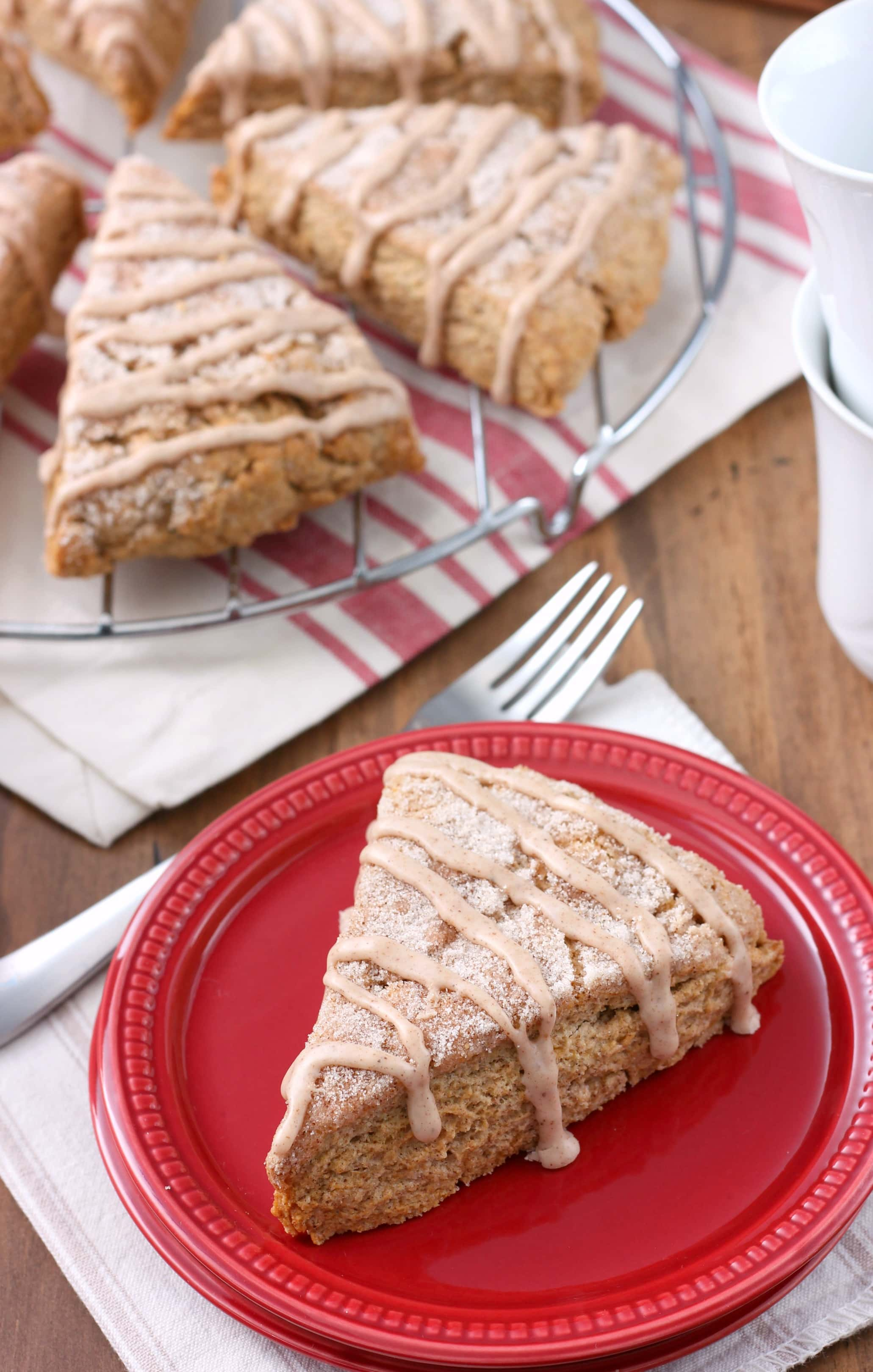 Snickerdoodle Scones Recipe from A Kitchen Addiction