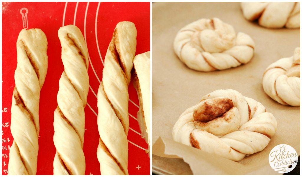 Cinnamon Twist Knots Recipe l www.a-kitchen-addiction.com