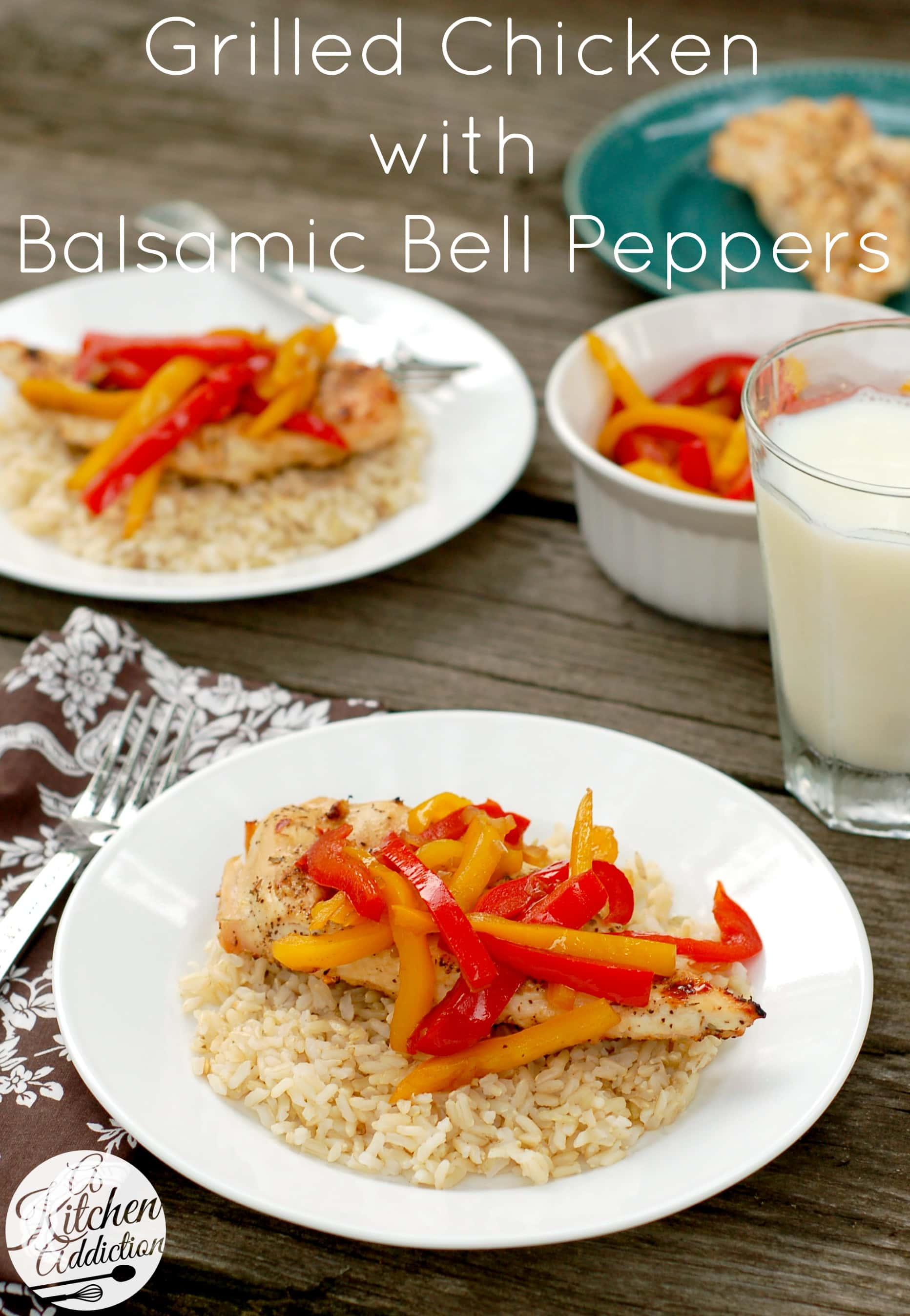 Grilled chicken with balsamic bell peppers a kitchen addiction grilled chicken with balsamic bell peppers recipe l a kitchen addiction forumfinder Image collections