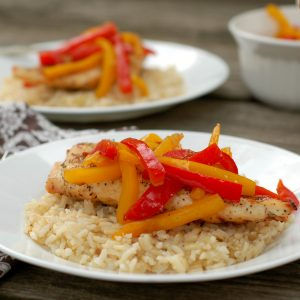 Grilled Chicken with Balsamic Bell Peppers