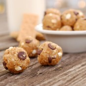 Peanut Butter S'mores Granola Bites Recipe l www.a-kitchen-addiction.com