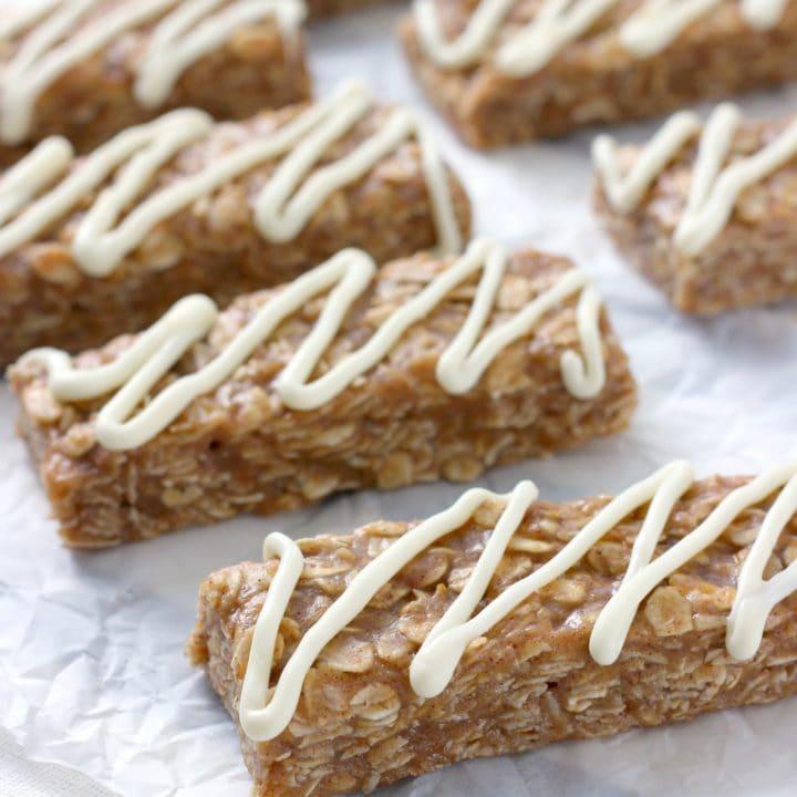 No Bake Snickerdoodle Granola Bars Recipe