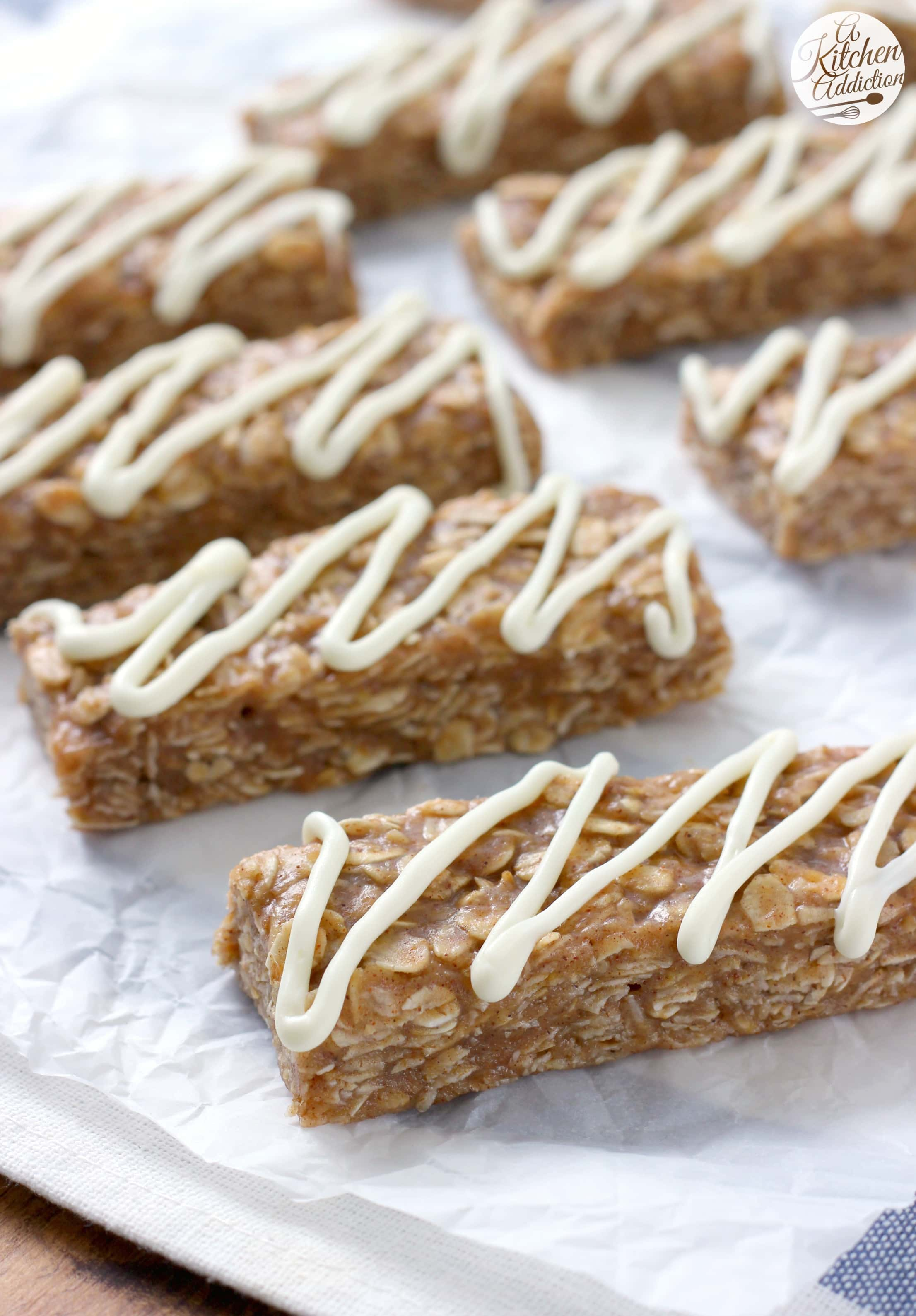 No Bake Snickerdoodle Granola Bars Recipe