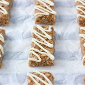 No Bake Snickerdoodle Granola Bars Recipe from A Kitchen Addiction