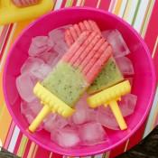 Strawberry Kiwi Yogurt Pops Recipe l www.a-kitchen-addiction.com