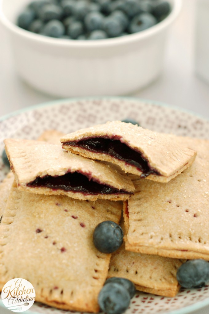 Whole Wheat Blueberry Toaster Pastries l www.a-kitchen-addiction.com