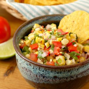 Grilled Corn Salsa Recipe l www.a-kitchen-addiction.com