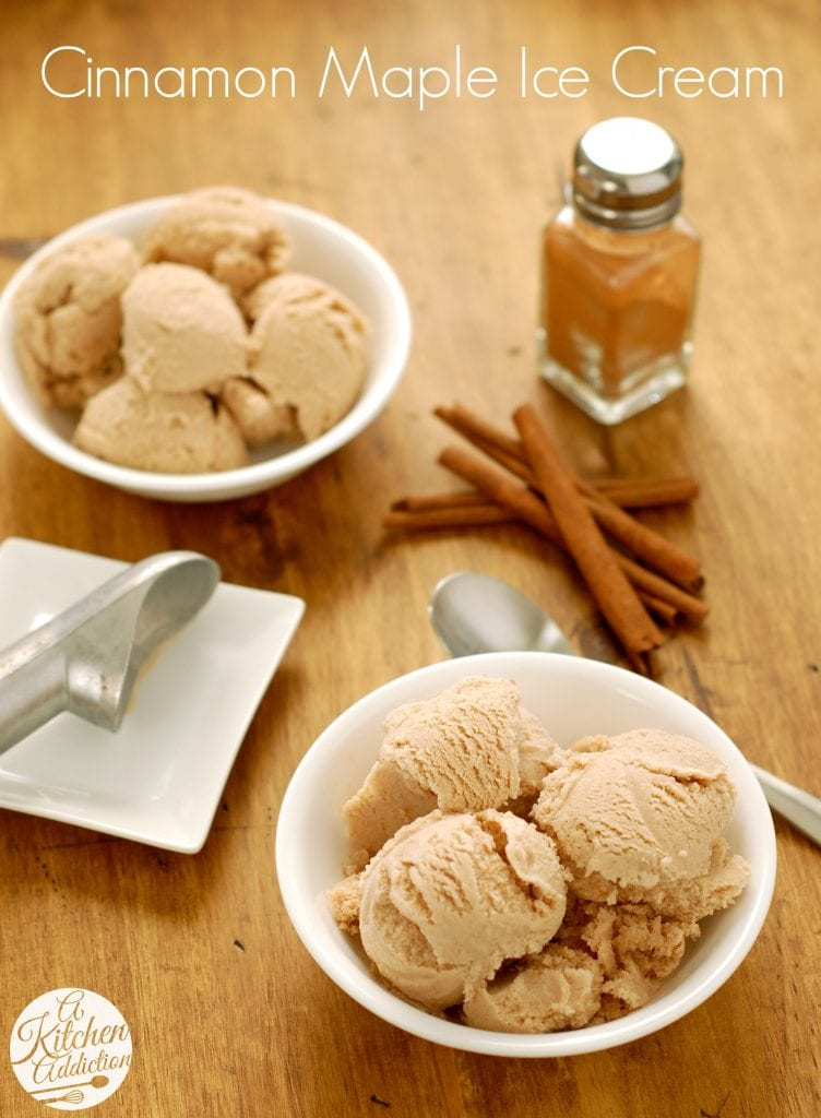 Cinnamon Maple Ice Cream Recipe l www.a-kitchen-addiction.com