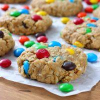Peanut Butter M+M Oatmeal Cookies