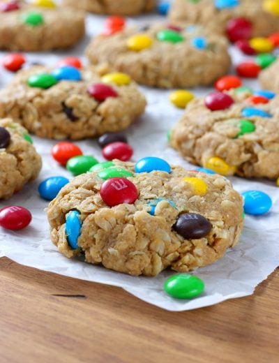 M+M Peanut Butter Oatmeal Cookies