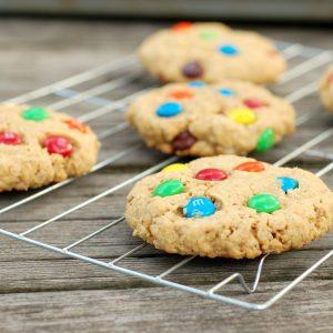 M+M Peanut Butter Oatmeal Cookies