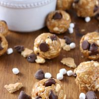 Peanut Butter Smore's Granola Bites