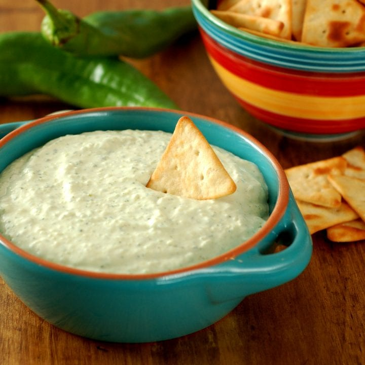 Creamy Roasted Hatch Chile Dip