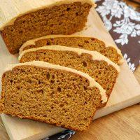 Salted Caramel Pumpkin Buttercream Frosted Pumpkin Bread