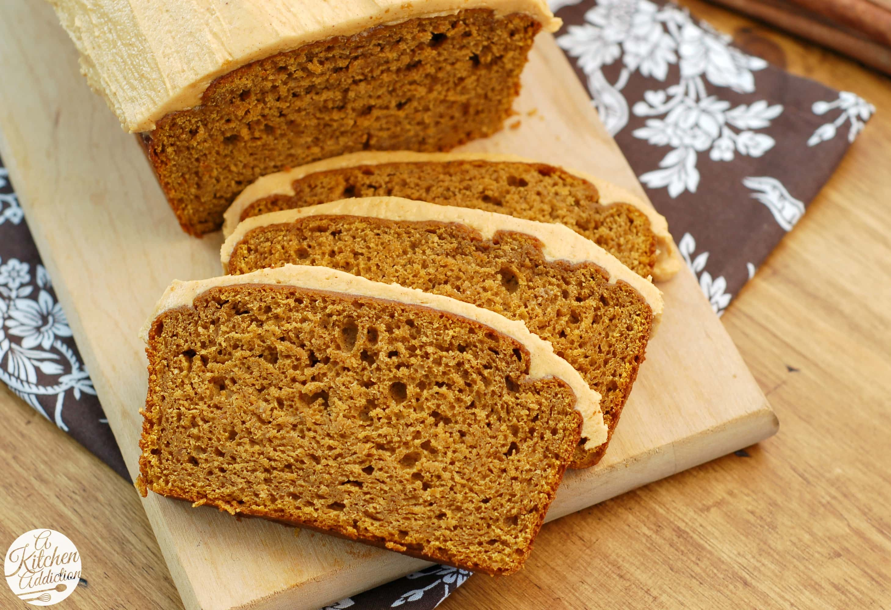 Salted Caramel Pumpkin Buttercream Frosted Pumpkin Bread Recipe l www ...