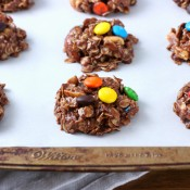 Trail Mix No Bake Cookies Recipe from A Kitchen Addiction