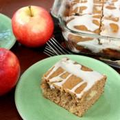 Glazed Brown Butter Apple Yogurt Cake Recipe l www.a-kitchen-addiction.com