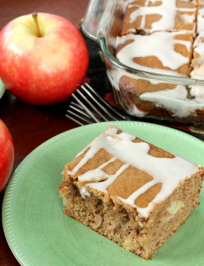 Glazed Brown Butter Apple Yogurt Cake Recipe l www.a-kitchen-addiction.com