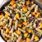 Butternut Black Bean Pasta Skillet Recipe from A Kitchen Addiction