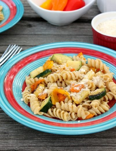 Grilled Summer Vegetable Pasta Salad Recipe l www.a-kitchen-addiction.com