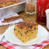 Maple-Cinnamon Pumpkin Coffee Cake Recipe l www.a-ktichen-addiction.com