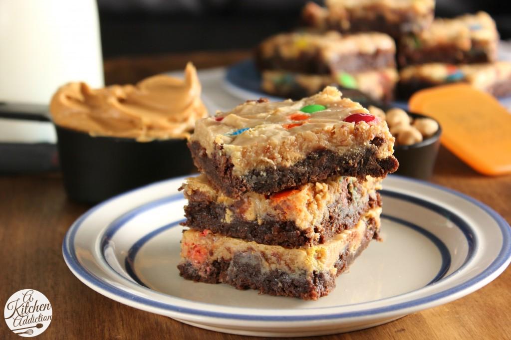Peanut Butter Brownie Magic Bars #OXOGoodBrownie l www.a-kitchen-addiction.com