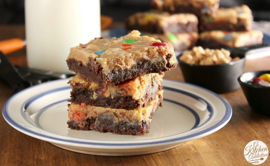 Peanut Butter Brownies Magic Bars #OXOGoodBrownie Recipe l www.a-kitchen-addiction.com