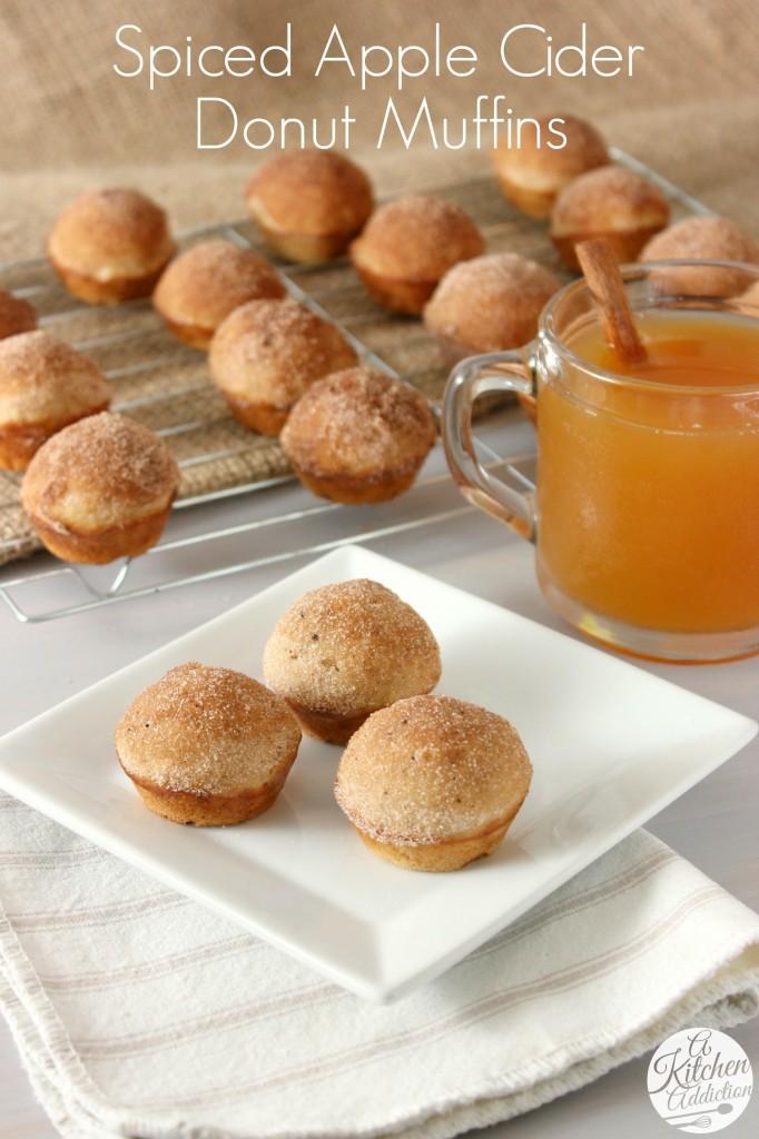 Spiced Apple Cider Donut Muffins - A Kitchen Addiction